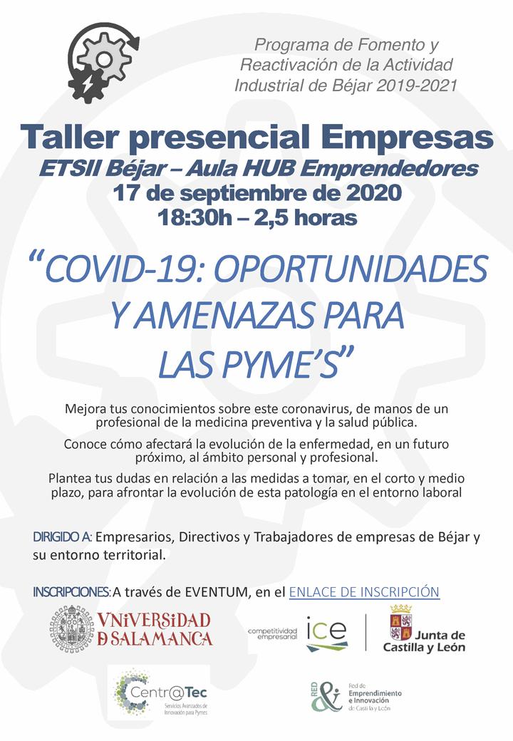 """TALLER: """"COVID-19: Oportunidades y amenazas para las PYME's"""""""