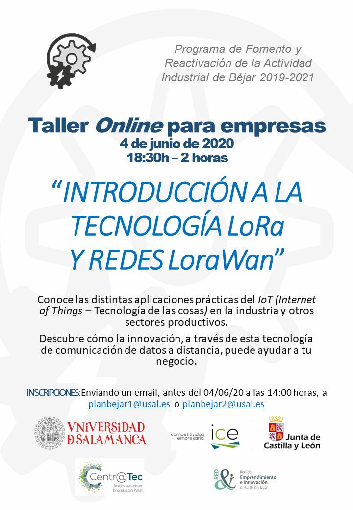 """TALLER: """"Introducción a la tecnología LoRa y redes LoRaWan"""""""